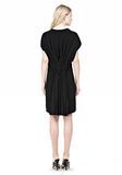 ALEXANDER WANG VACUUM PRESSED IRREGULAR PLEAT BACK DRESS Short Dress Adult 8_n_r