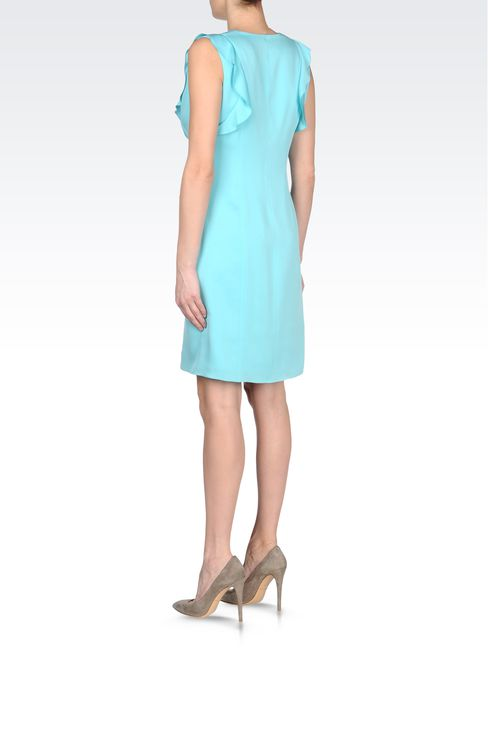 CADY SILK DRESS WITH RUFFLE: Short Dresses Women by Armani - 3