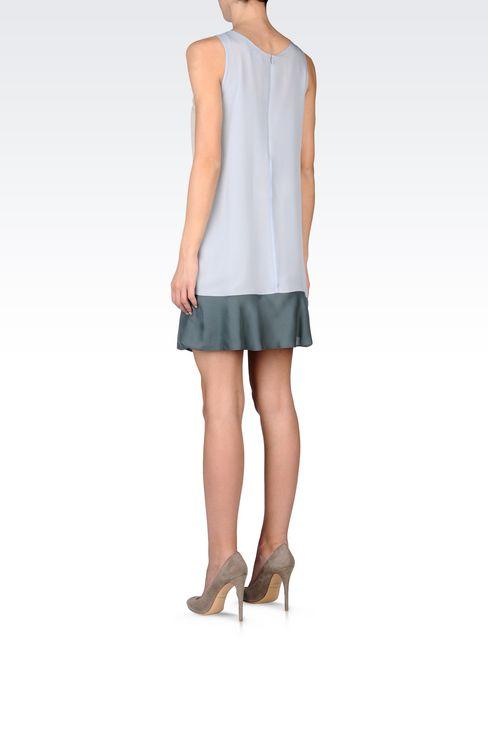 EMBROIDERED CHIFFON DRESS: Short Dresses Women by Armani - 3