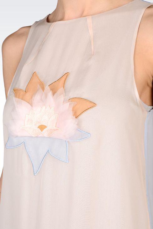 EMBROIDERED CHIFFON DRESS: Short Dresses Women by Armani - 4
