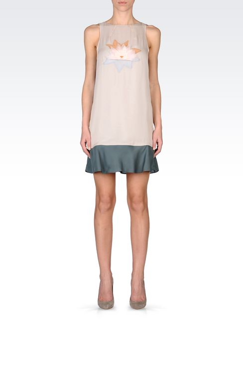 EMBROIDERED CHIFFON DRESS: Short Dresses Women by Armani - 1