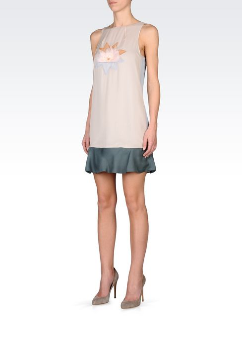 EMBROIDERED CHIFFON DRESS: Short Dresses Women by Armani - 2