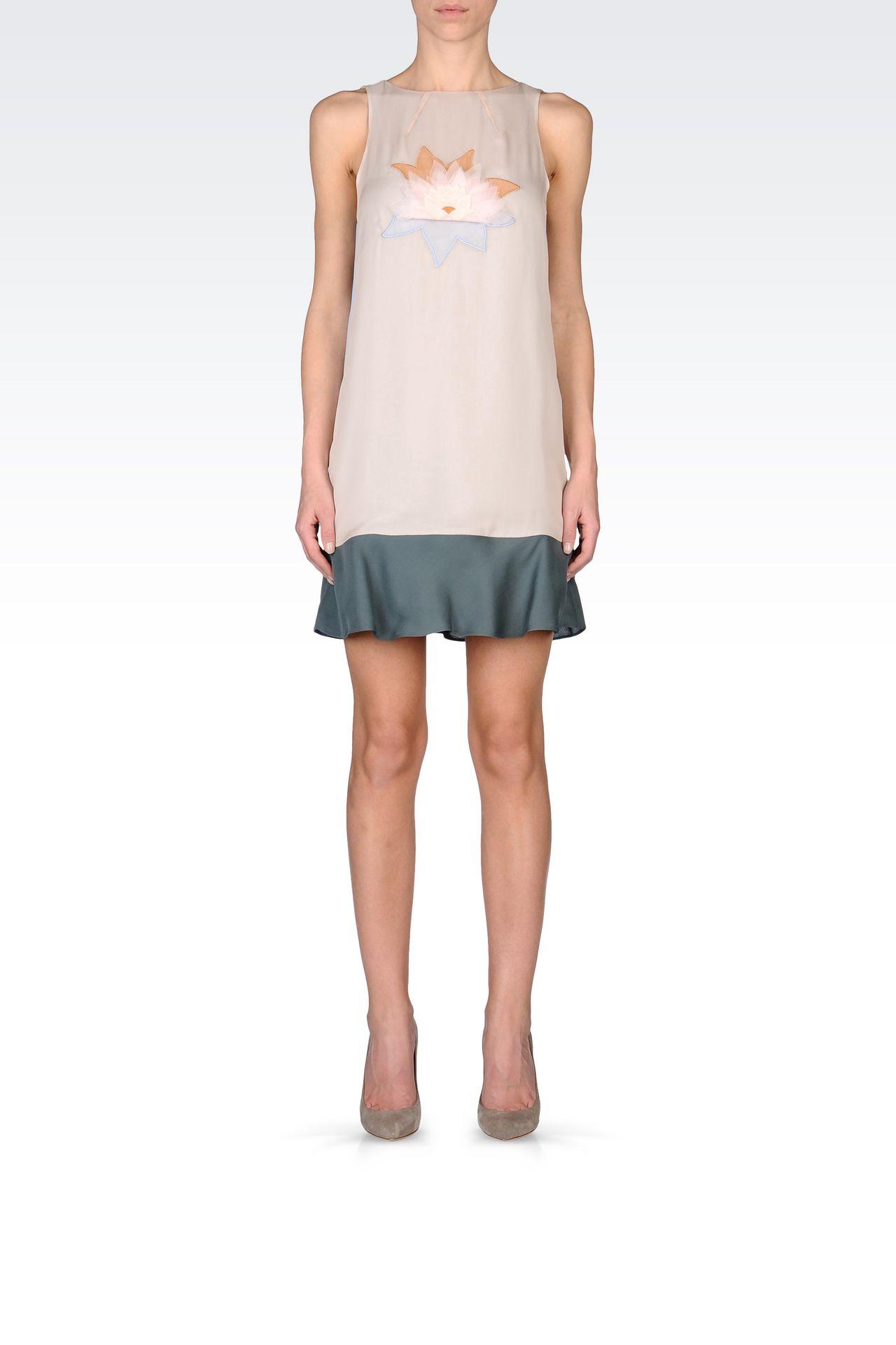 EMBROIDERED CHIFFON DRESS: Short Dresses Women by Armani - 0