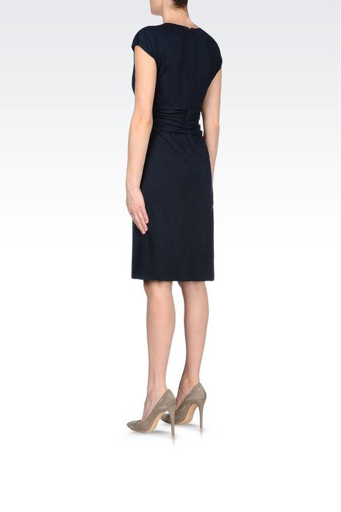 JERSEY DRESS WITH V-NECK: Jersey dresses Women by Armani - 3