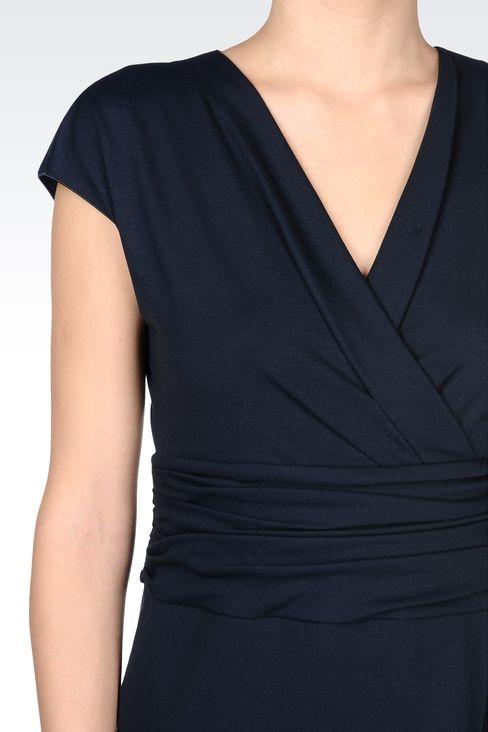 JERSEY DRESS WITH V-NECK: Jersey dresses Women by Armani - 4