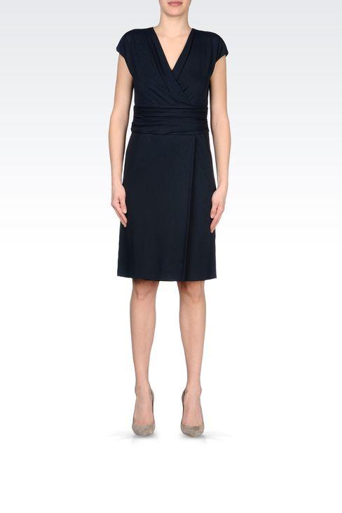 JERSEY DRESS WITH V-NECK: Jersey dresses Women by Armani - 1