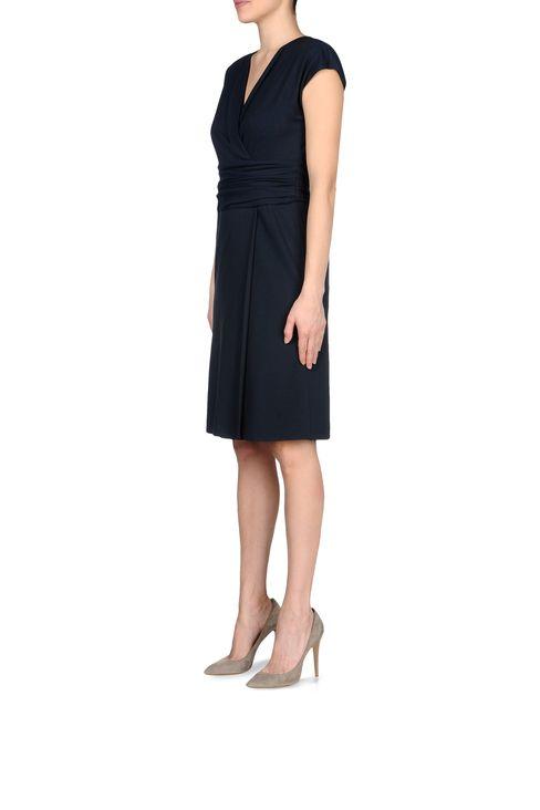 JERSEY DRESS WITH V-NECK: Jersey dresses Women by Armani - 2