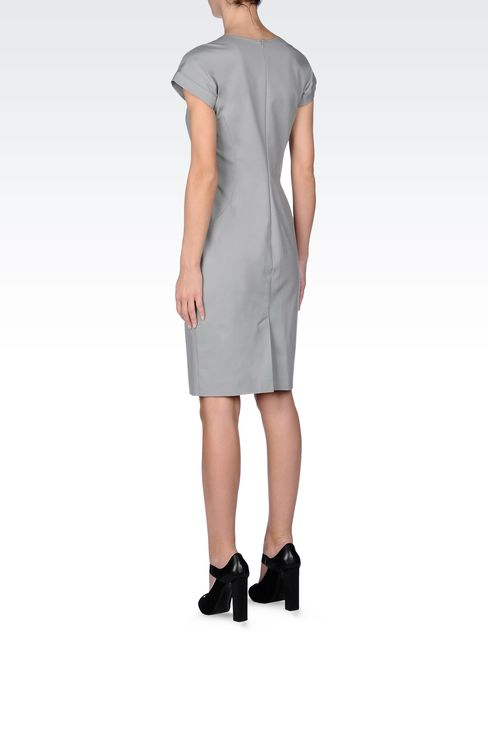STRETCH COTTON TUBE DRESS: Short Dresses Women by Armani - 3