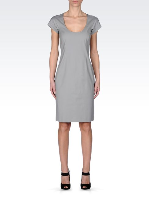 STRETCH COTTON TUBE DRESS: Short Dresses Women by Armani - 1