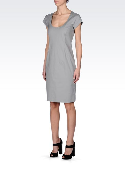 STRETCH COTTON TUBE DRESS: Short Dresses Women by Armani - 2