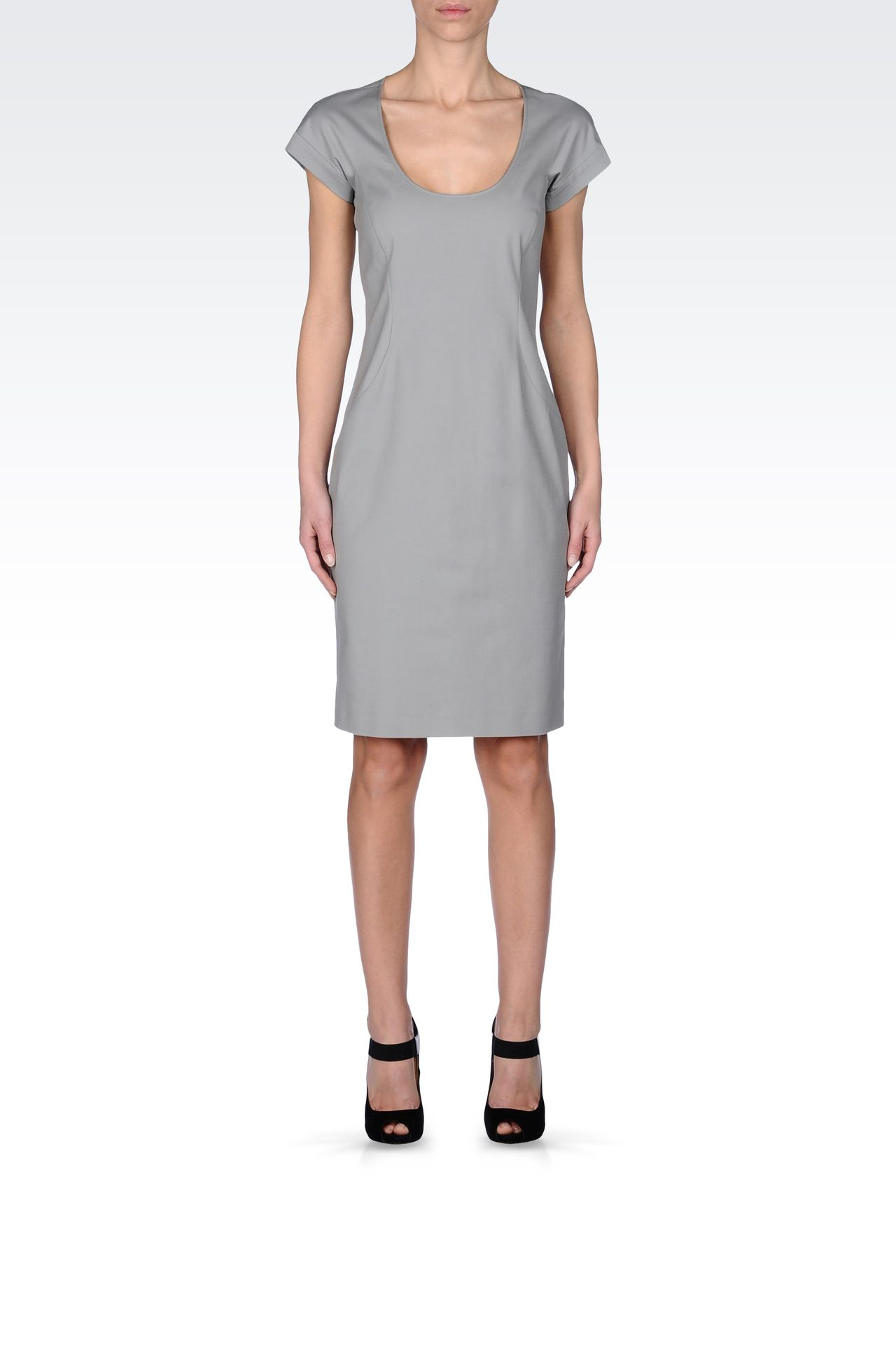 STRETCH COTTON TUBE DRESS: Short Dresses Women by Armani - 0