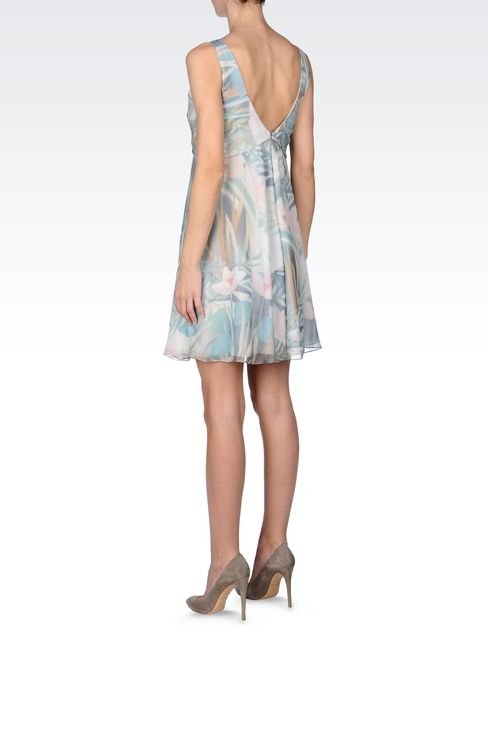 SILK SEERSUCKER DRESS: Short Dresses Women by Armani - 3