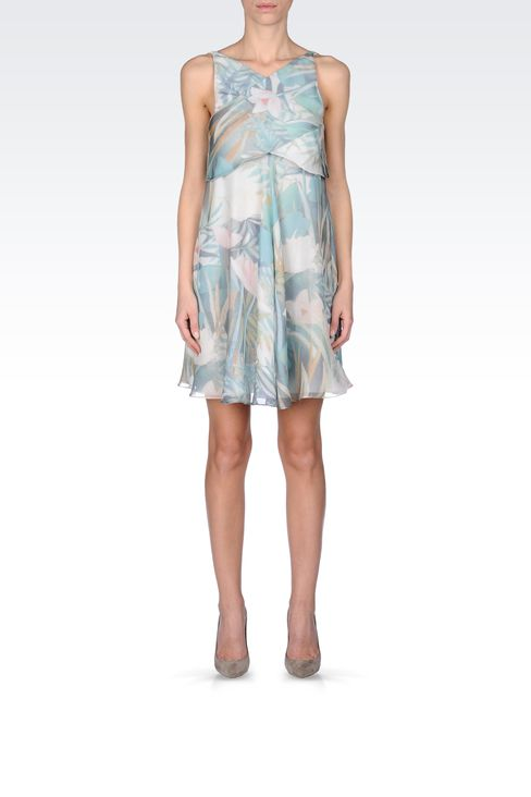 SILK SEERSUCKER DRESS: Short Dresses Women by Armani - 1