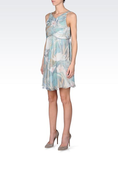 SILK SEERSUCKER DRESS: Short Dresses Women by Armani - 2
