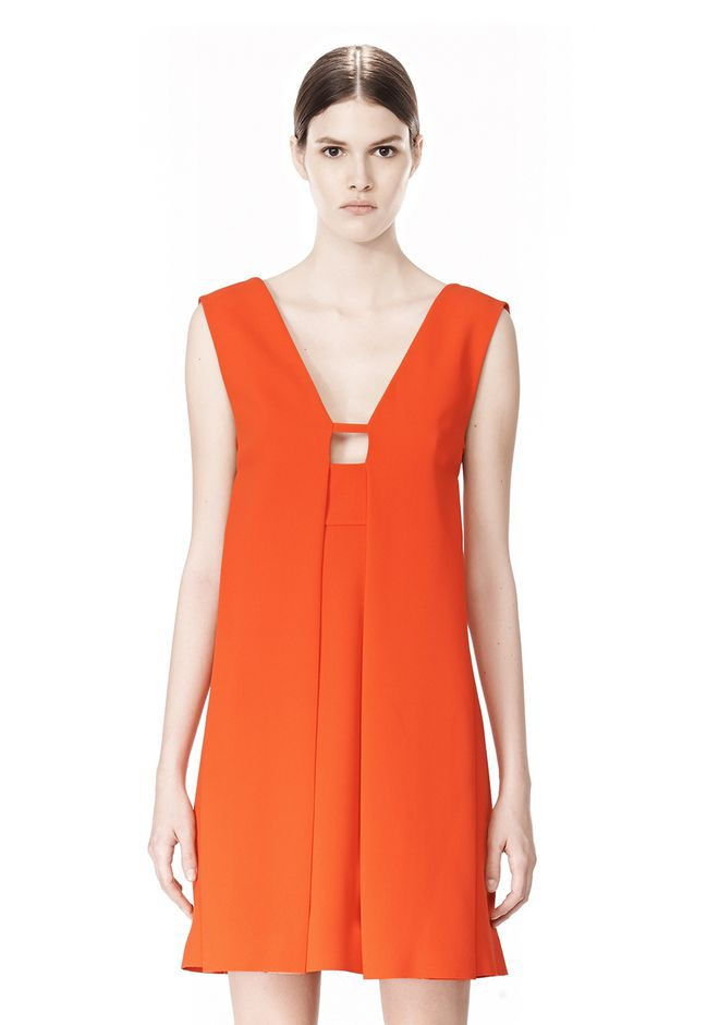 ALEXANDER WANG EXCLUSIVE SLEEVELESS DRESS WITH BOX PLEATS Short Dress Adult 12_n_d