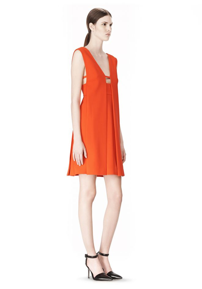 ALEXANDER WANG EXCLUSIVE SLEEVELESS DRESS WITH BOX PLEATS Short Dress Adult 12_n_e