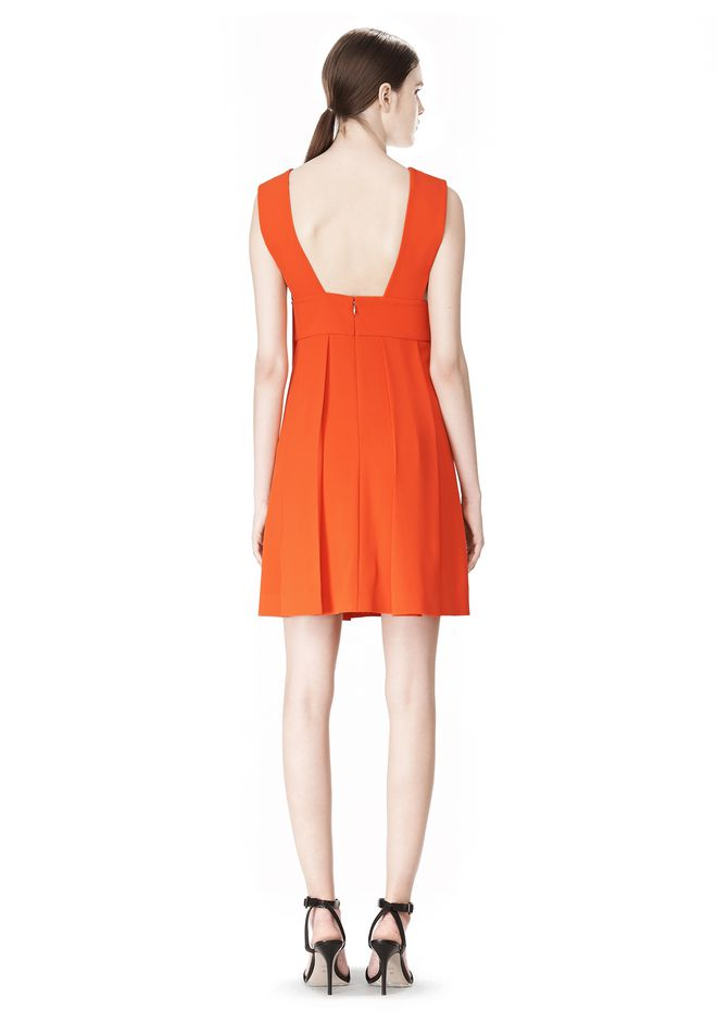 ALEXANDER WANG EXCLUSIVE SLEEVELESS DRESS WITH BOX PLEATS Short Dress Adult 12_n_r