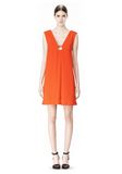 ALEXANDER WANG EXCLUSIVE SLEEVELESS DRESS WITH BOX PLEATS Short Dress Adult 8_n_f