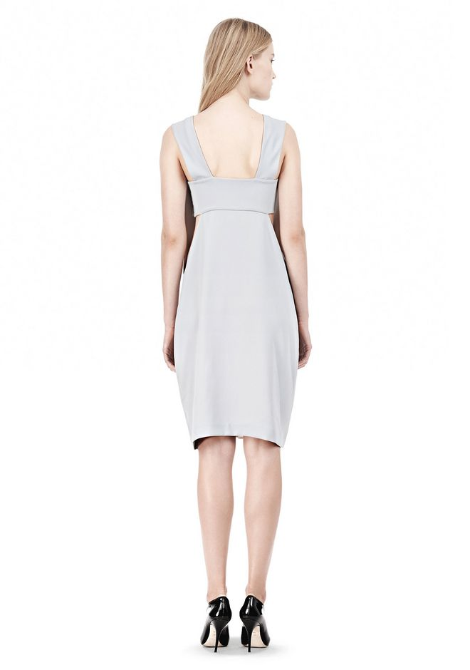 T by ALEXANDER WANG POLY CREPE LOW V-NECK DRESS WITH BANDEAU INSERT Short Dress Adult 12_n_r
