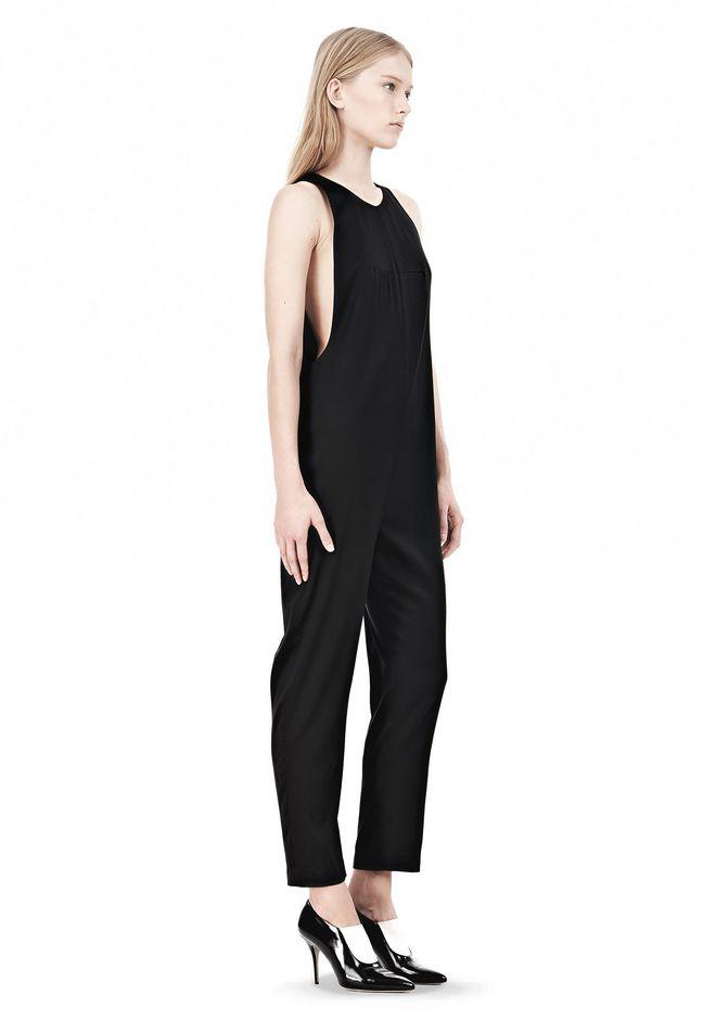T by ALEXANDER WANG SILK TWILL SLEEVELESS ROMPER 3/4 length dress Adult 12_n_e