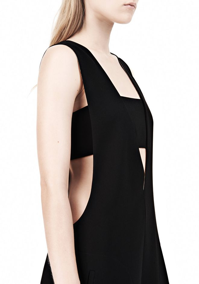 T by ALEXANDER WANG POLY CREPE LOW V-NECK ROMPER WITH BANDEAU INSERT Short Dress Adult 12_n_a