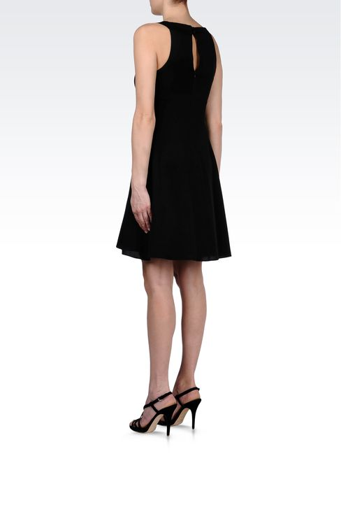 CADY DRESS WITH DRAPED NECKLINE: Short Dresses Women by Armani - 3
