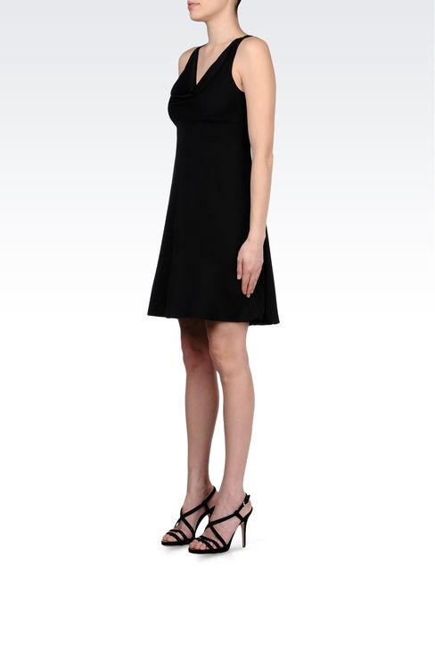 CADY DRESS WITH DRAPED NECKLINE: Short Dresses Women by Armani - 2