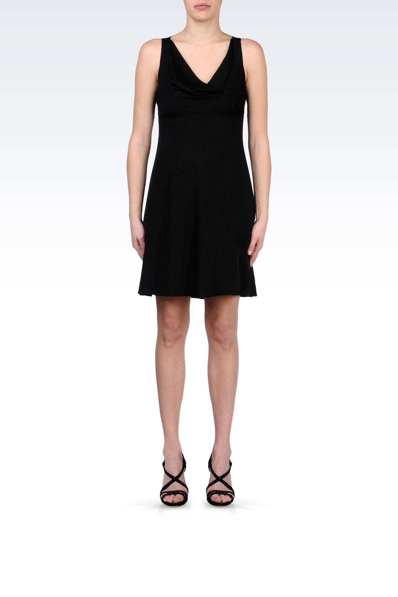 CADY DRESS WITH DRAPED NECKLINE: Short Dresses Women by Armani - 0