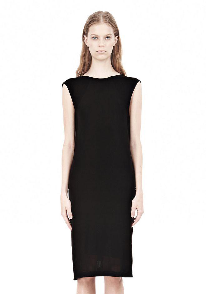 T by ALEXANDER WANG MATTE JERSEY DRESS WITH CRISSCROSS DRAPE BACK Short Dress Adult 12_n_d