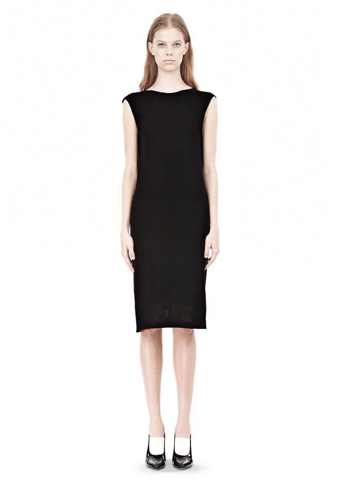 T by ALEXANDER WANG MATTE JERSEY DRESS WITH CRISSCROSS DRAPE BACK Short Dress Adult 12_n_f