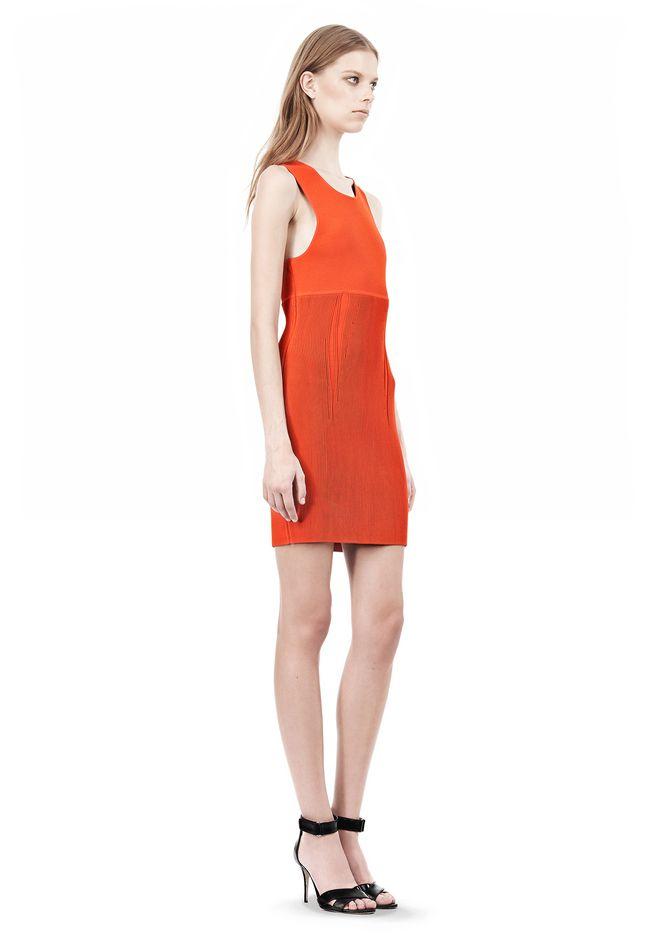 ALEXANDER WANG TUBULAR STRIPE TANK DRESS Short Dress Adult 12_n_e