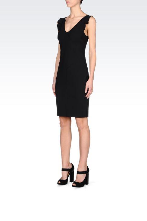 CLASSIC TUBE DRESS IN NEOPRENE: Short Dresses Women by Armani - 2