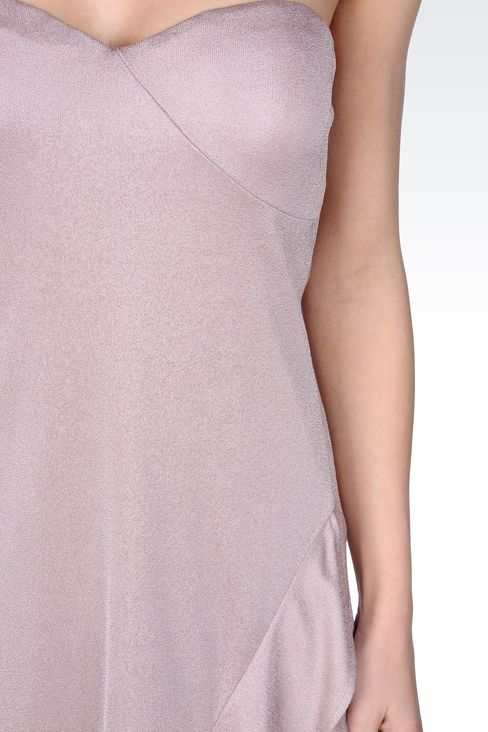CRÊPE JERSEY BUSTIER DRESS: Strapless dresses Women by Armani - 4