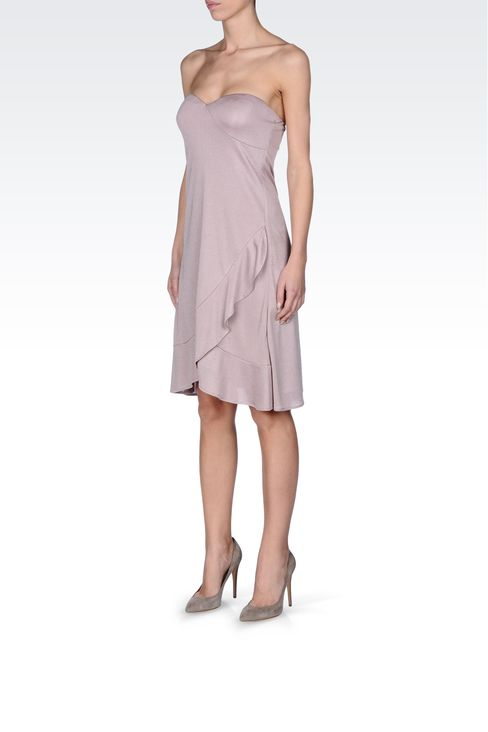 CRÊPE JERSEY BUSTIER DRESS: Strapless dresses Women by Armani - 2