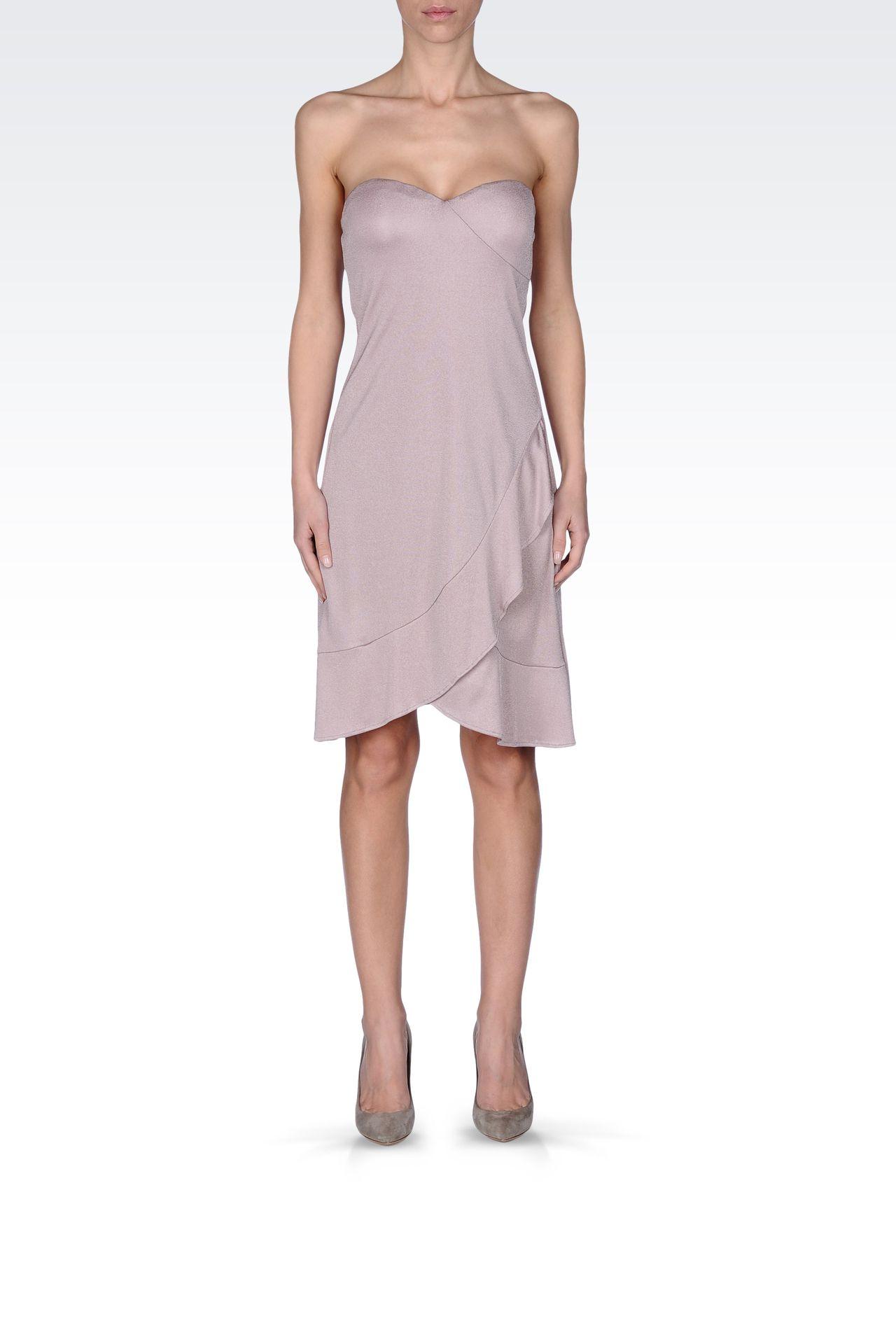 CRÊPE JERSEY BUSTIER DRESS: Strapless dresses Women by Armani - 0