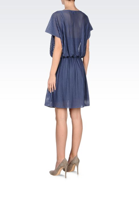 PLEATED DRESS IN VISCOSE MIX: Short Dresses Women by Armani - 3