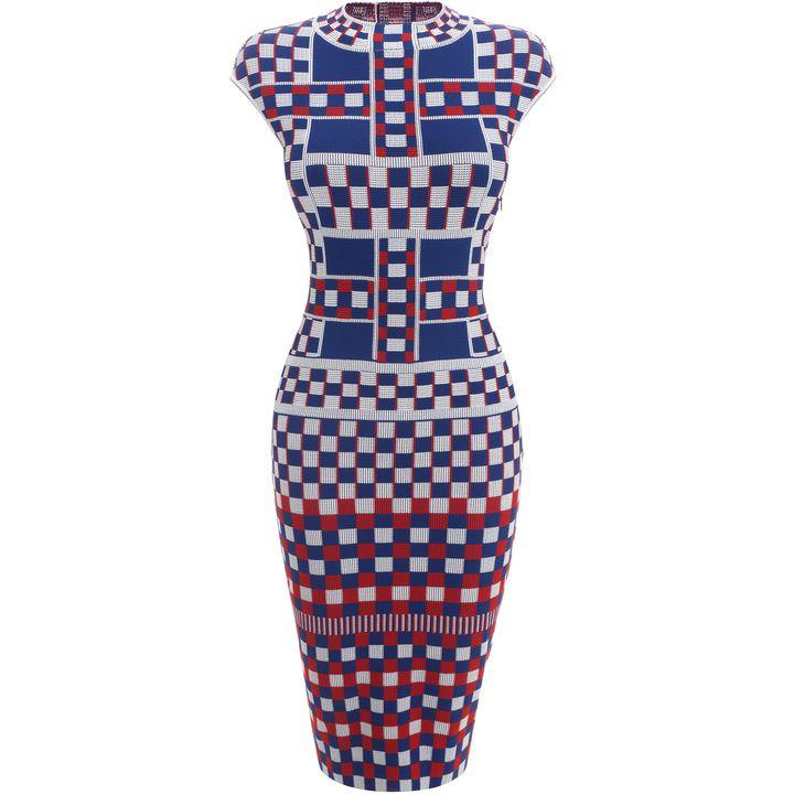 Alexander McQueen, Graphic Jacquard Knit Pencil Dress