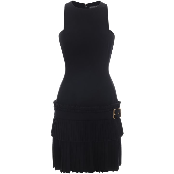 Alexander McQueen, Geometric Halter Pleat Dress