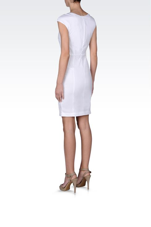 COTTON SHEATH: Short Dresses Women by Armani - 3