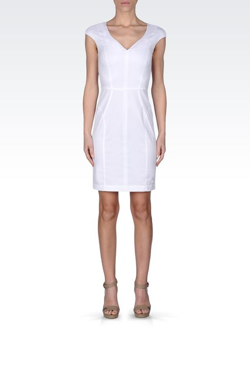 COTTON SHEATH: Short Dresses Women by Armani - 1