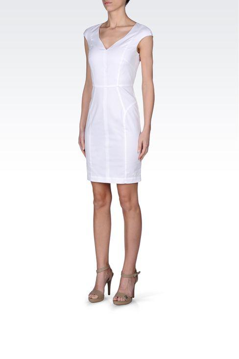 COTTON SHEATH: Short Dresses Women by Armani - 2