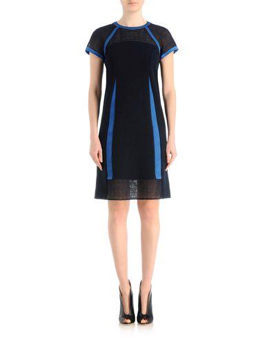 Couture silk dress with knit macramé details