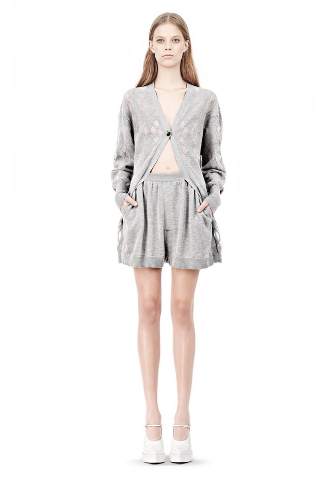 ALEXANDER WANG ARGYLE MENS INSPIRED CARDIGAN AND BOXER KNIT DRESS Adult 12_n_f