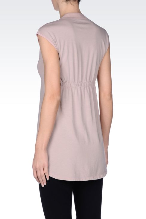 SHORT DRESS IN STRETCH COTTON MODAL : Short dresses Women by Armani - 3