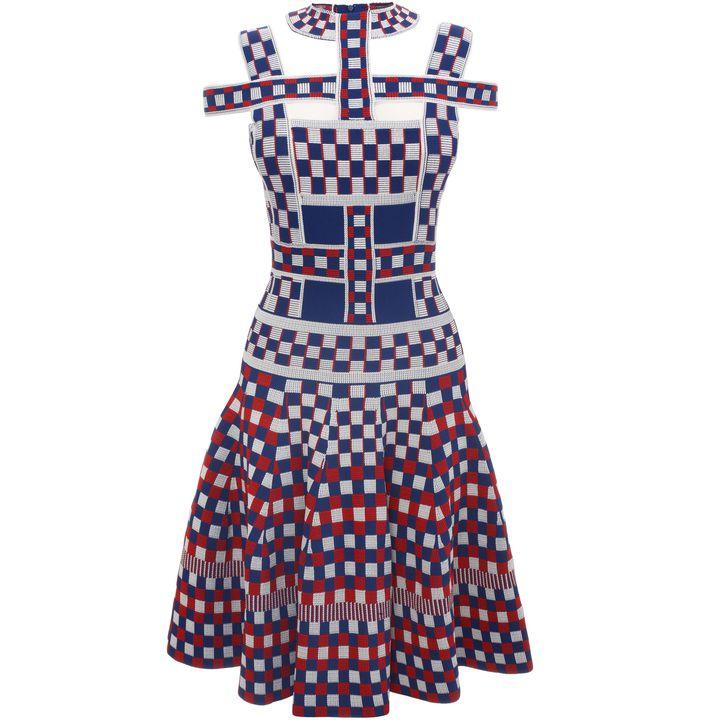 Alexander McQueen, Graphic Jacquard Knit Harness Dress