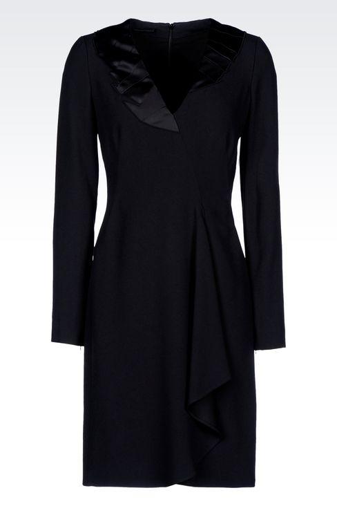 DRAPED DRESS IN CADY: Short Dresses Women by Armani - 1