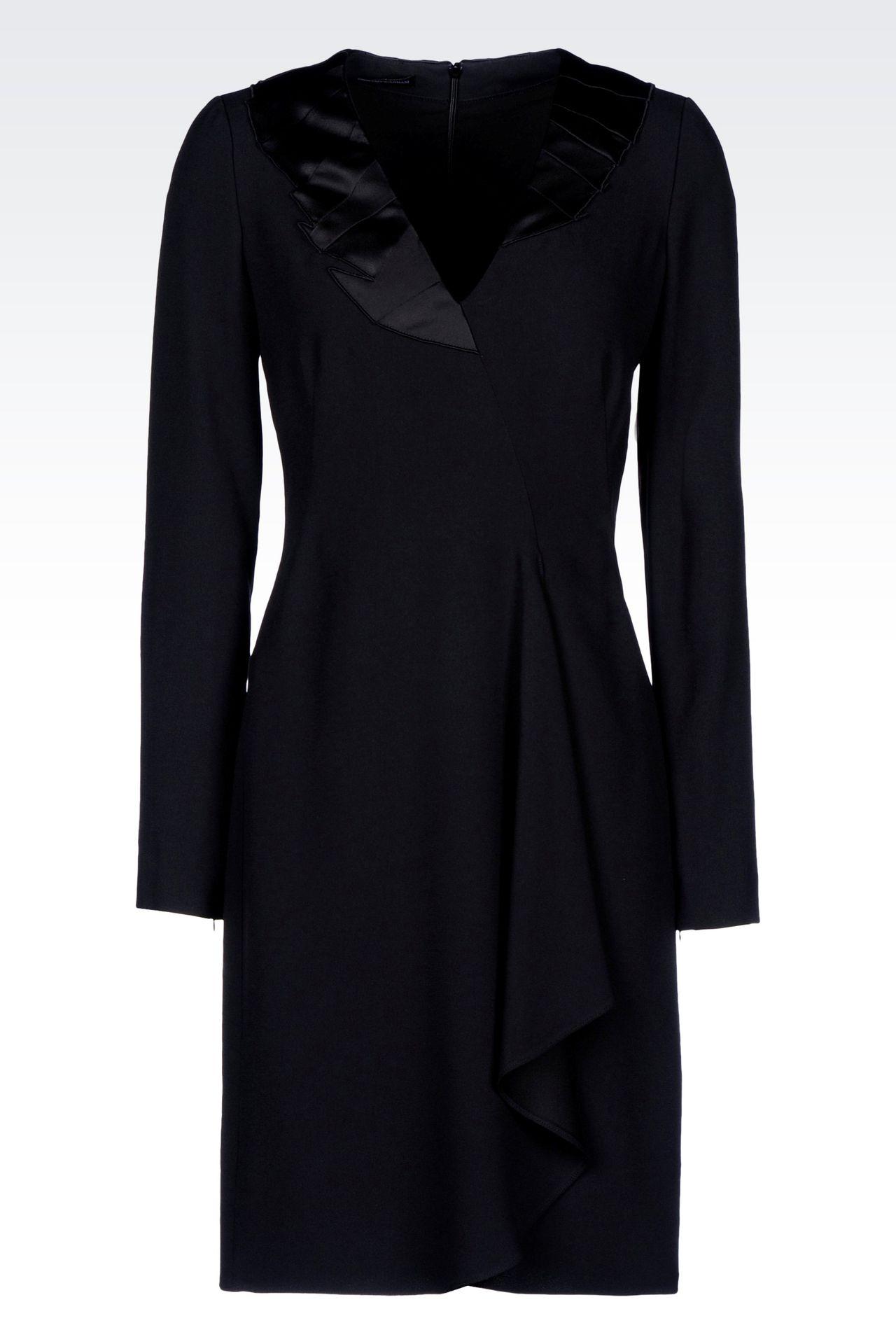 DRAPED DRESS IN CADY: Short Dresses Women by Armani - 0