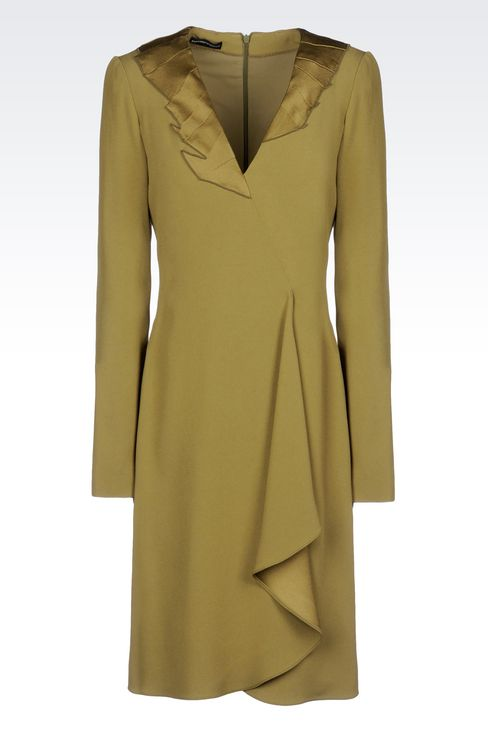 DRAPED DRESS IN CADY: Short Dresses Women by Armani - 1