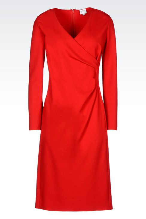 DRESS IN VISCOSE BLEND: 3/4 Length Dresses Women by Armani - 1