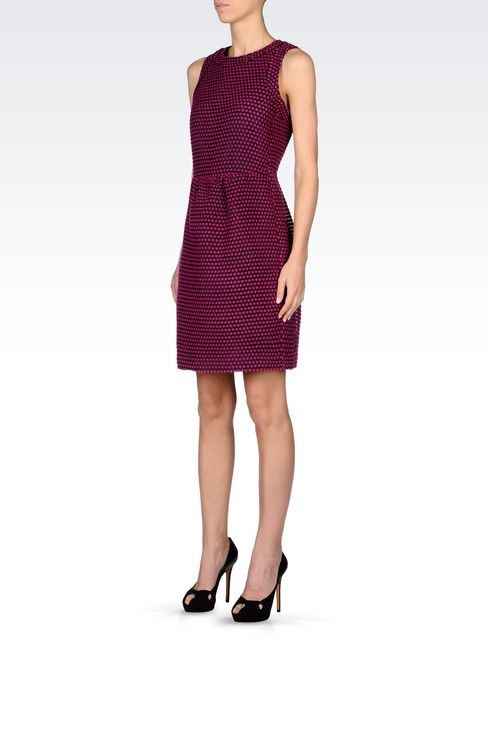 DRESS IN TWO-COLOUR JACQUARD: Short Dresses Women by Armani - 3